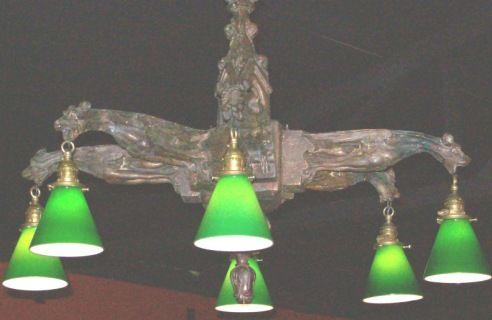 Gargoyle Wood Carved Chandelier Chandelier Light Antique Lamps