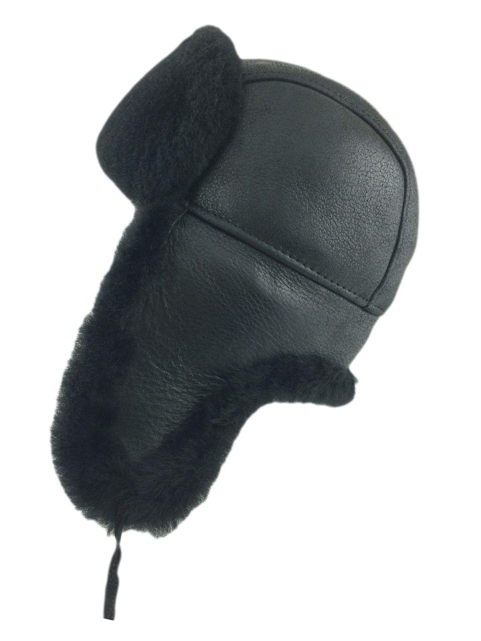 Zavelio   Genuine Sheepskin Coats, Jackets and Hats - Shearling Sheepskin Aviator Bomber Fur Hat - Solid Black, $ 79.99 (http://www.zavelio.com/sheepskin-hats/aviator-bomber-hats/shearling-sheepskin-aviator-bomber-fur-hat-solid-black/)
