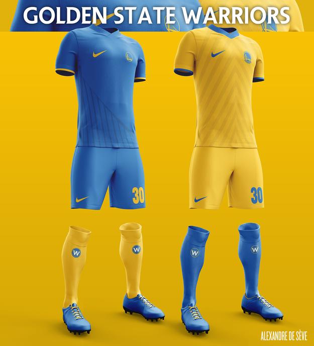 pretty nice 0c3e7 a864e NBA Jerseys Look Way Better As Soccer Kits | gsw | Football ...