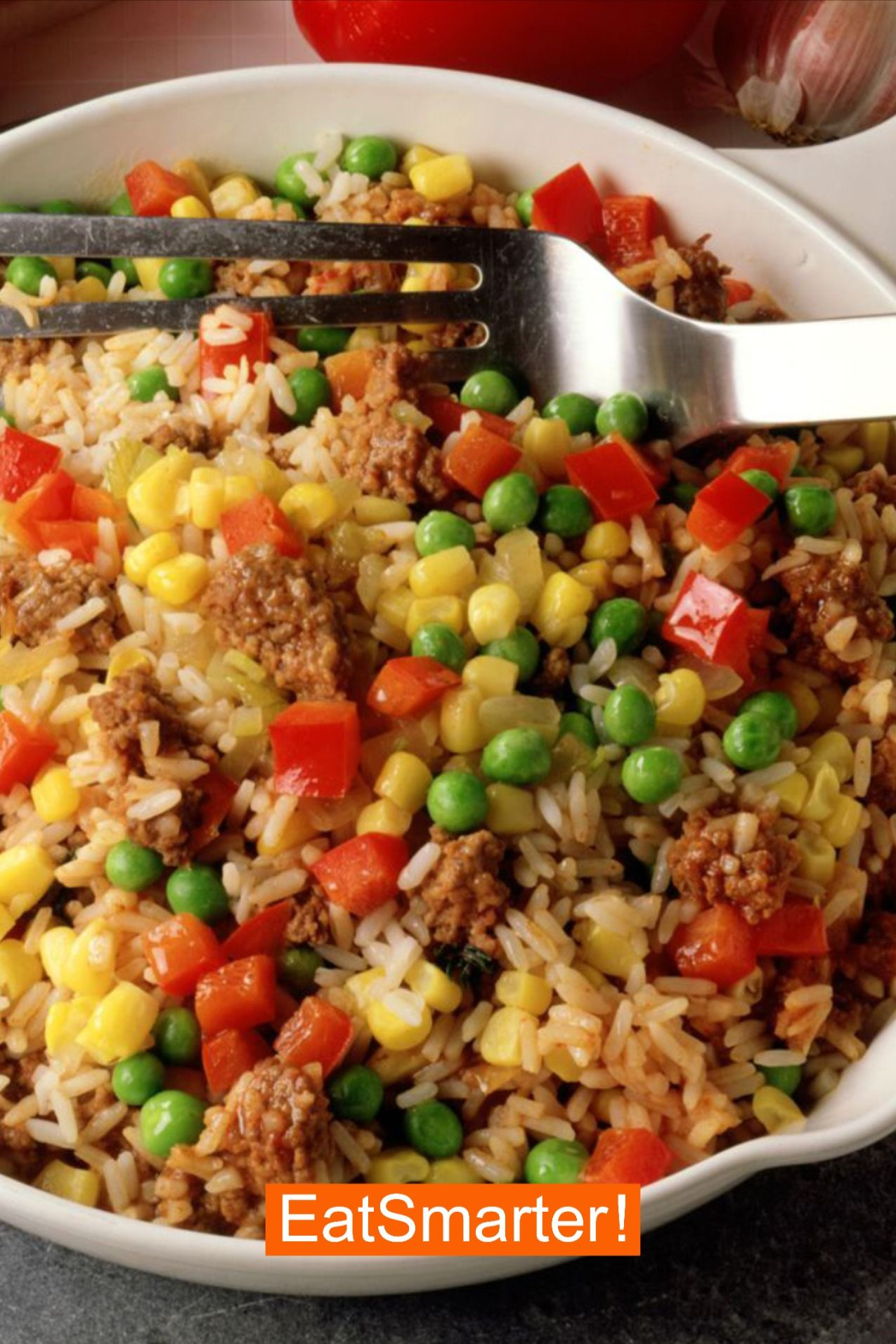 Photo of Recipes dinner with meat: rice minced meat pan EAT SMARTER