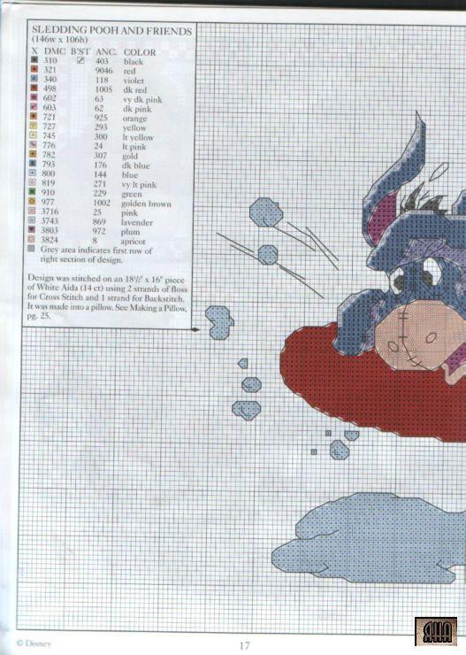 winnie the pooh winter fun 2 | Punto De Cruz | Pinterest | Punto de ...