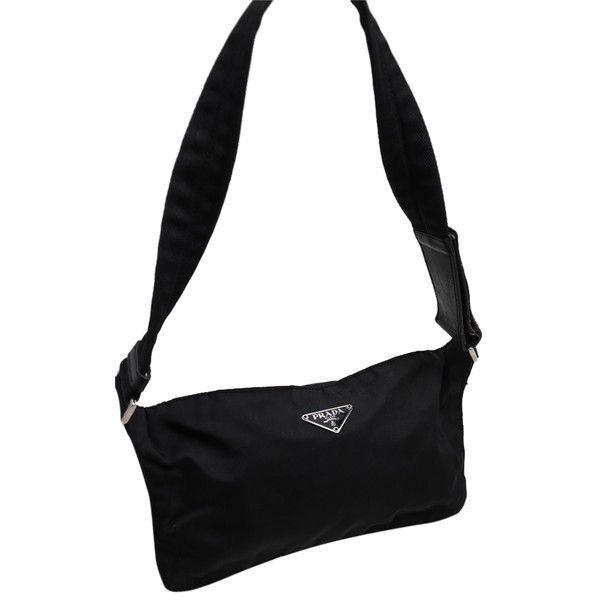 703565f1 Pre-owned Prada Nylon Fanny Pack Black Travel Bag ($240) ❤ liked on ...