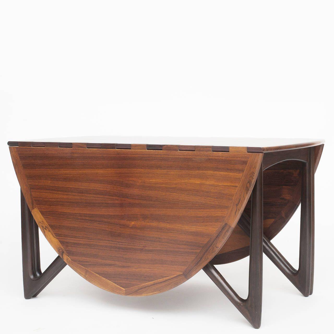 Furniture Vintage Look Modern Round Oak Gateleg Drop Leaf Dining
