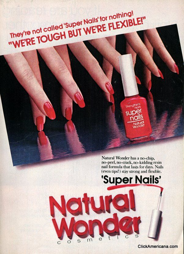 Point to color: Nail polish ads of the \'80s (1981-1985 | Vintage ads ...