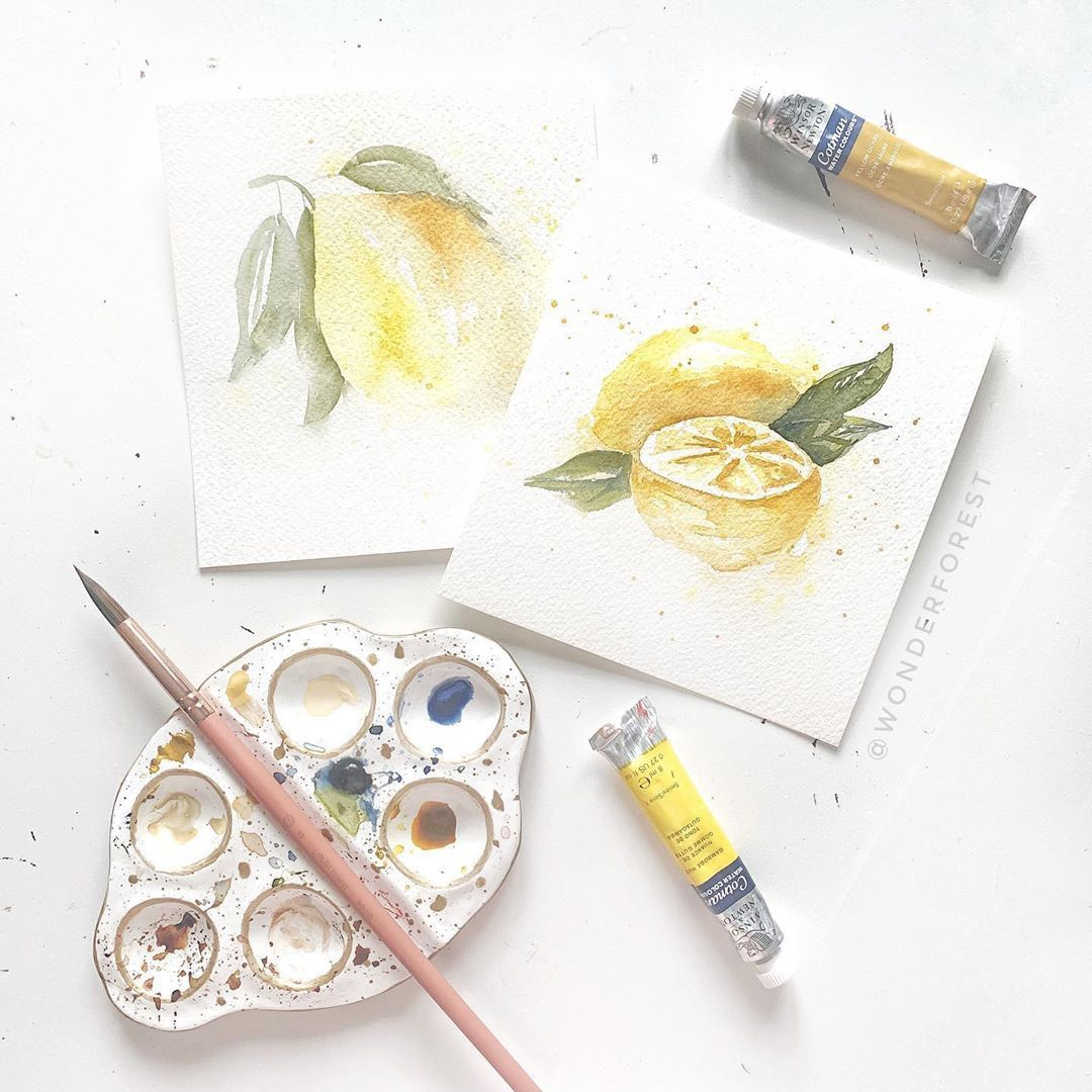 Loose Watercolour Tutorials Summer Fruit Watercolour Tutorials