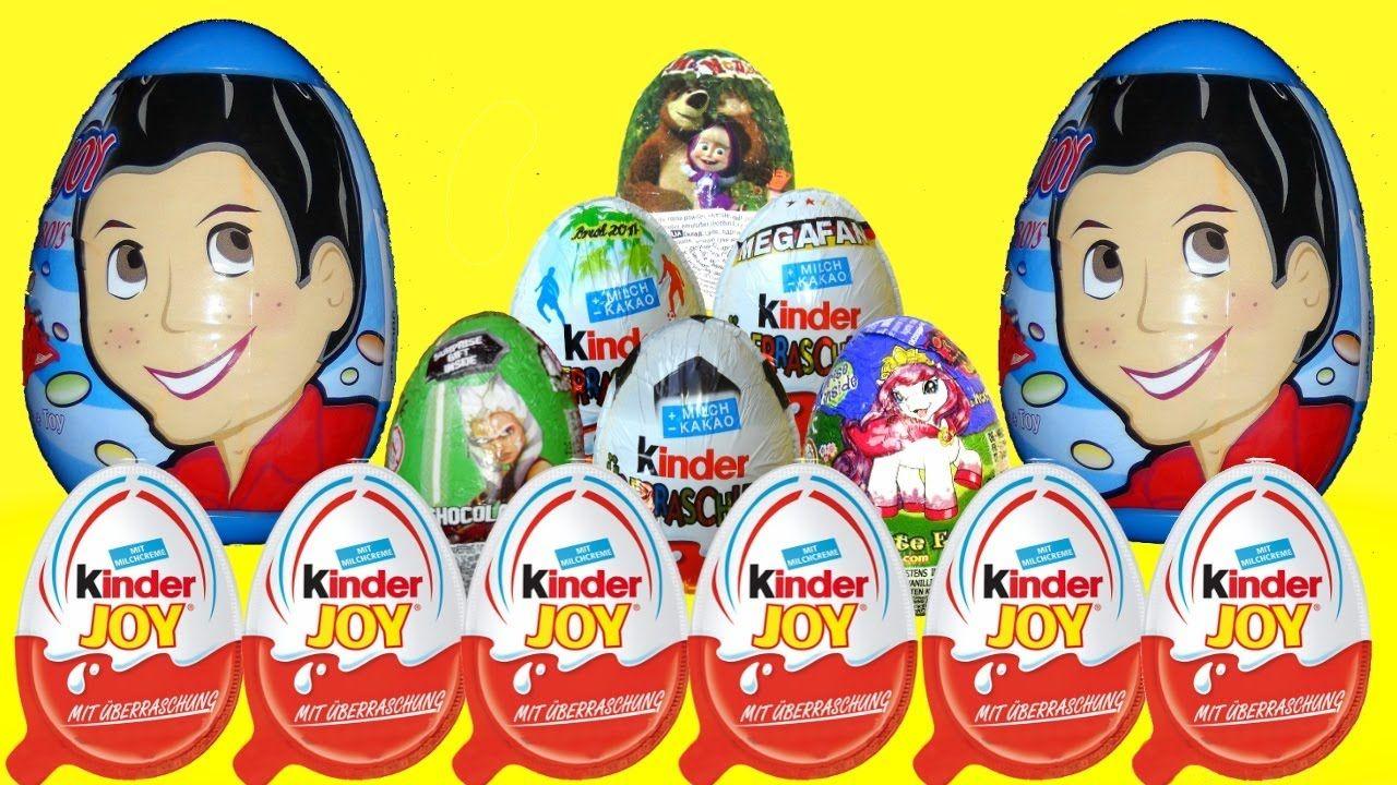 Kinder joy toys car   Kinder Surprise Eggs my little pony Маша и Медведь star wars