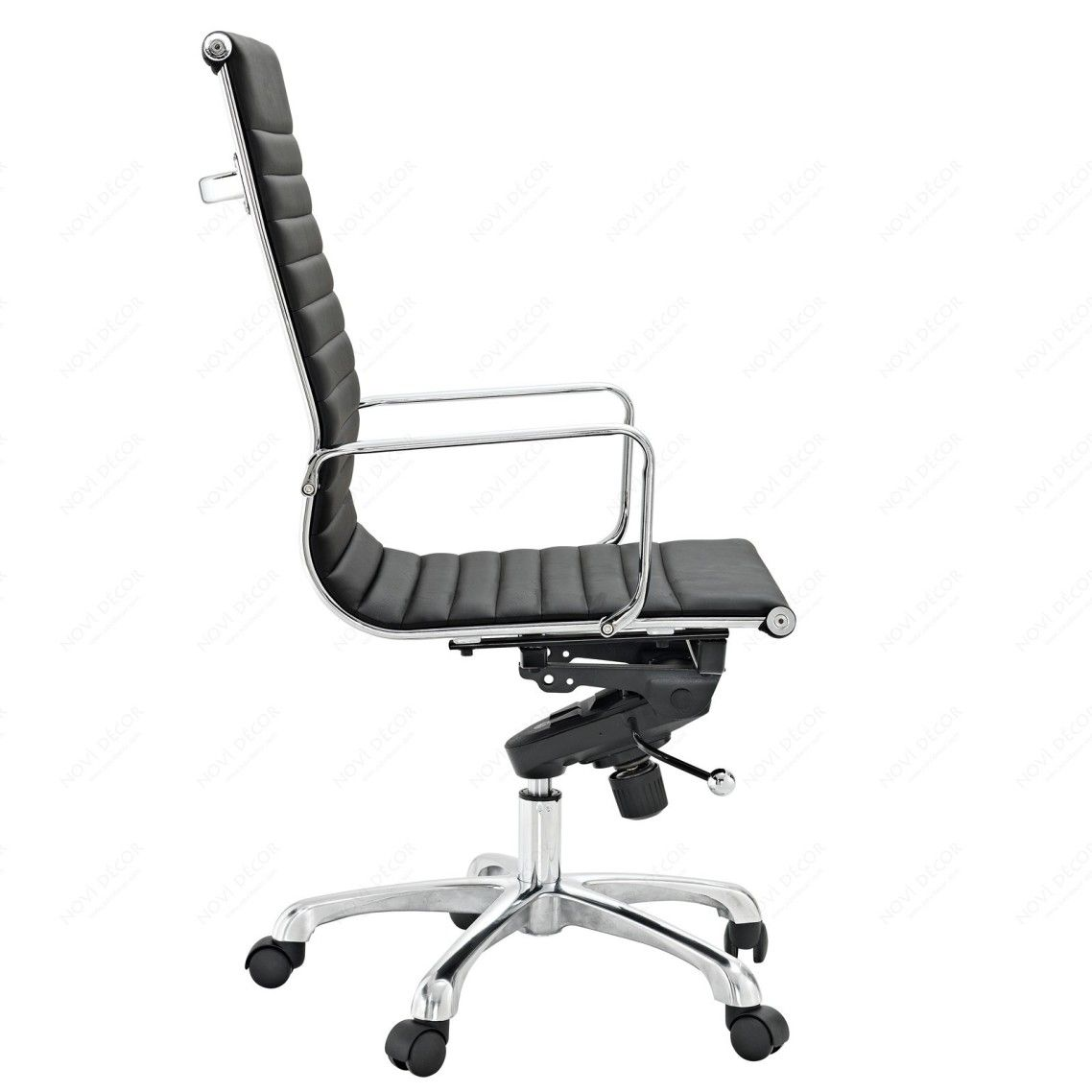 Counter Height Computer Chair Evenflo Expressions High Cover Extraordinary Office Chairs Design With Ribbed Back In Black Vinyl And Chromed Steel Frame Also Light Aluminum Base Five