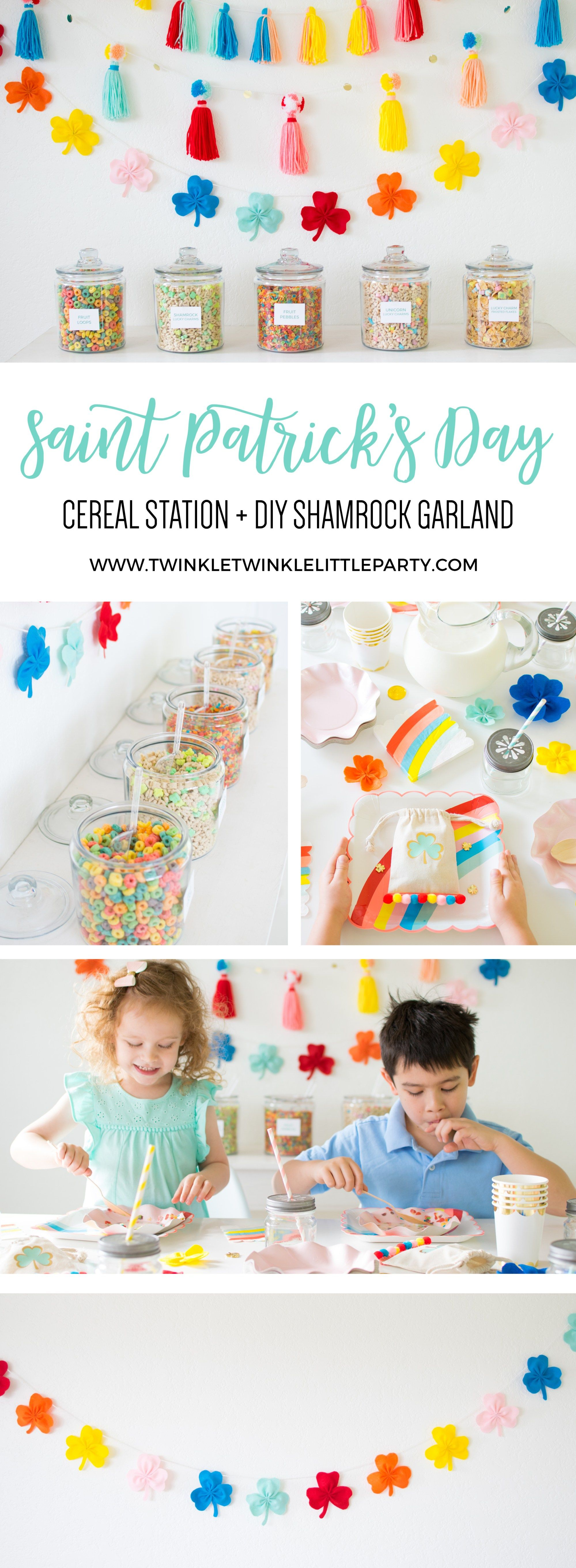 Surprise the kids with a Rainbow Inspired Saint's Patrick's Day