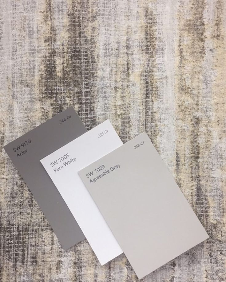 White Noise SW9170 Acier | SW7005 Pure White | SW7029 Agreeable Gray #purewhite