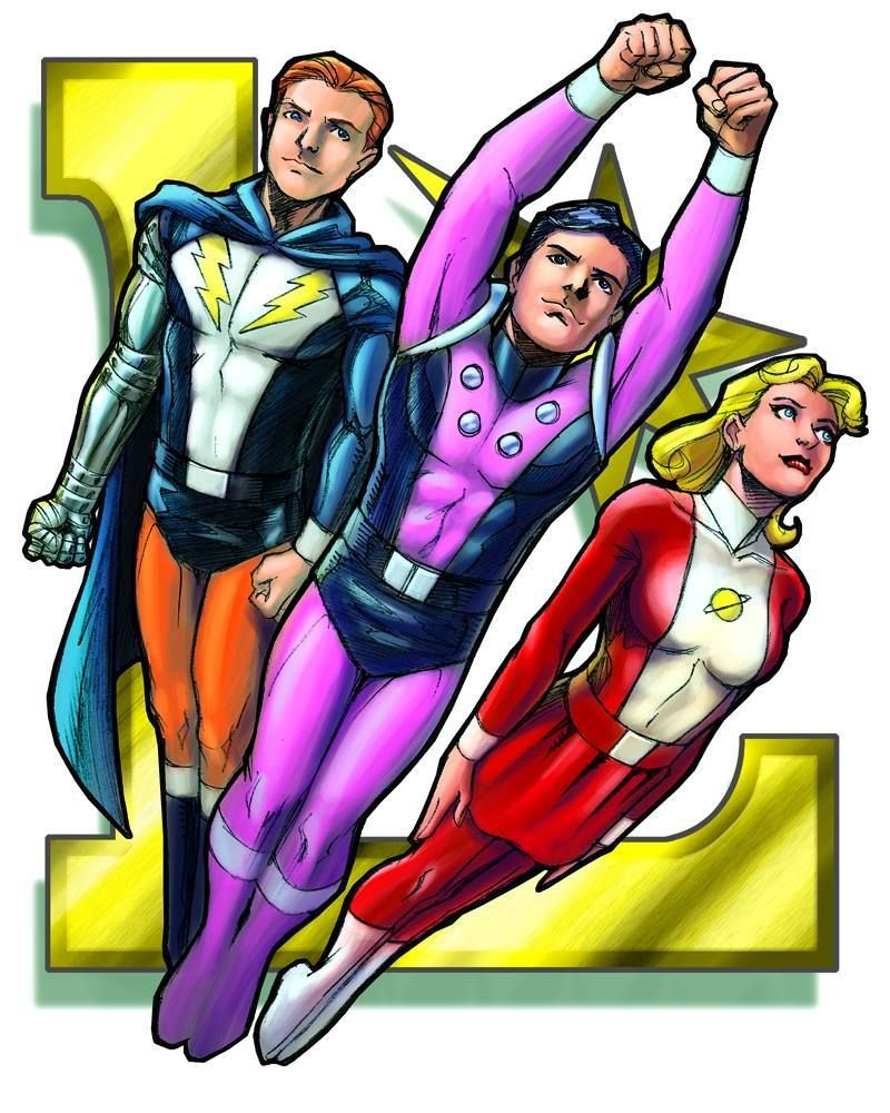 Live Wire (Garth Ranzz), Cosmic Boy (Rokk Krinn), & Saturn Girl (Imra  Ardeen) Founders of the Legion of Super-Heroes - Art by Jeff Moy
