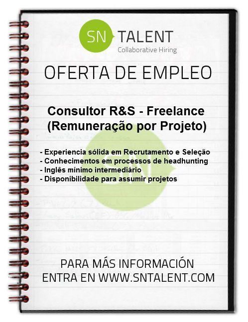 #Empleo  #Consultor R - Freelance / Home-Office (Remuneração por Projeto) en #Brasil