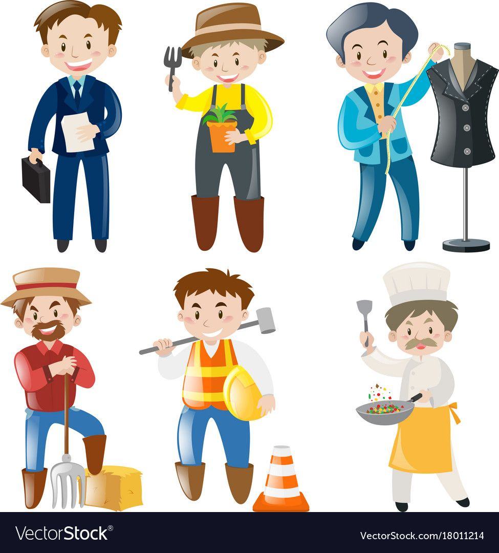 People doing different kinds of jobs vector image on