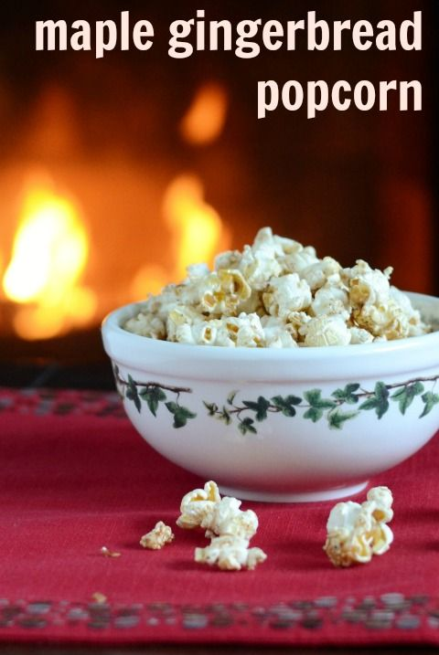 Maple Gingerbread Popcorn | Real Food Real Deals #healthy #recipe
