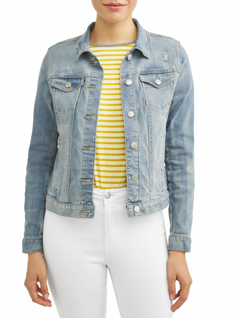 28 Pieces From Walmart That You Ll Probably Want To Layer With Everything Denim Jacket Women Denim Women Denim Jacket [ 1320 x 990 Pixel ]