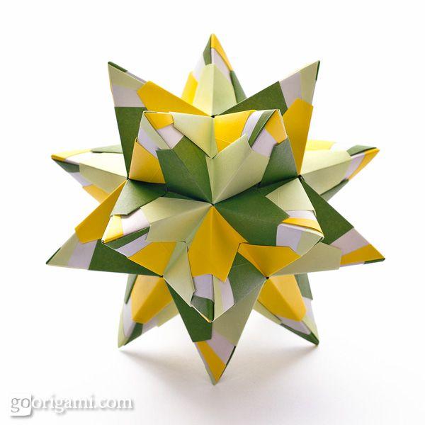 Chandelle Kusudama Origami Star Tutorial Diy Inspiration