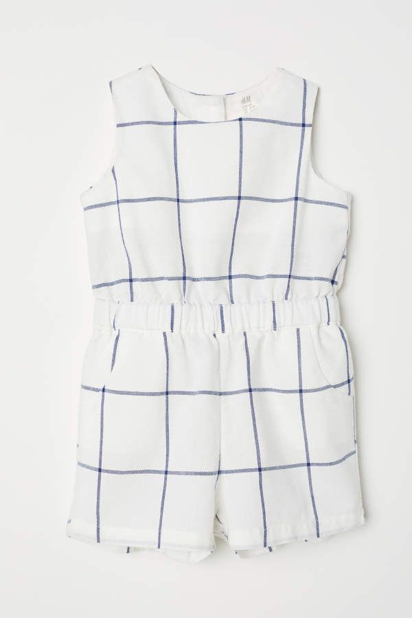 a096ed68fd5 H M H   M - Patterned Jumpsuit - Natural white checked - Kids ...