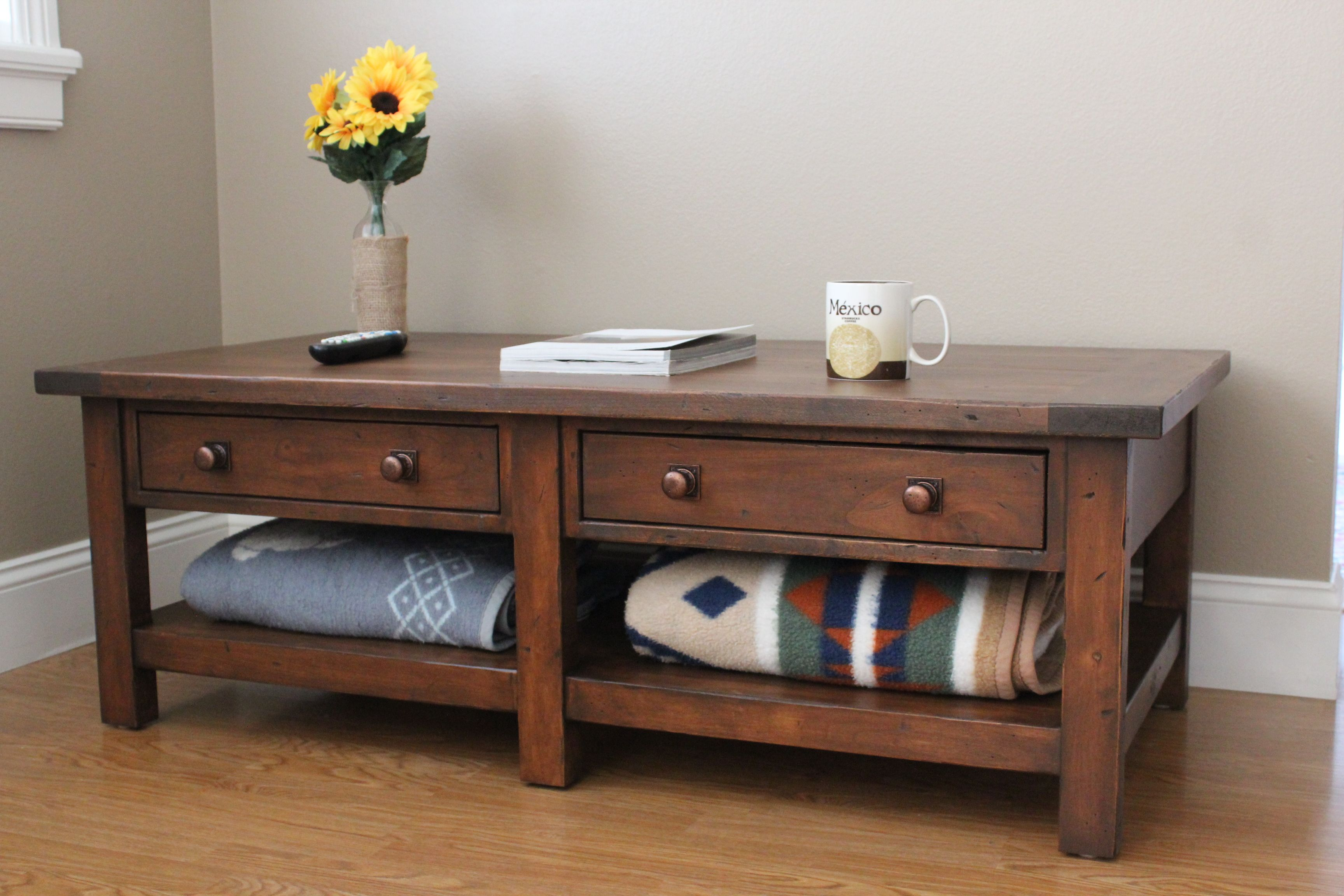 LDIY Projects Replica Of The Pottery Barn Benchwright Coffee Table - Pottery barn benchwright end table