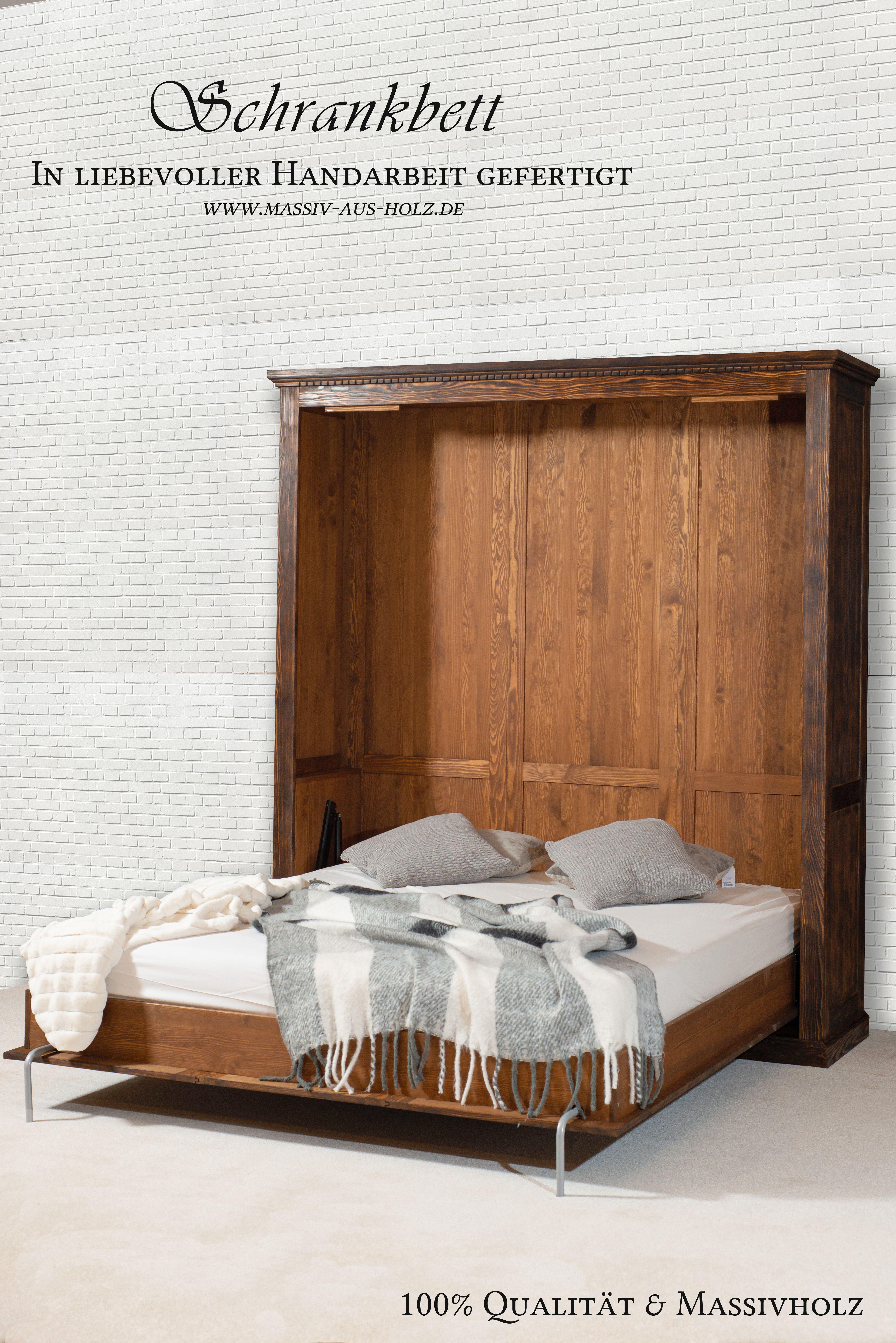 Schrankbett 100 Qualitat Massivholz Schrankbett Bett Landhaus Mobel