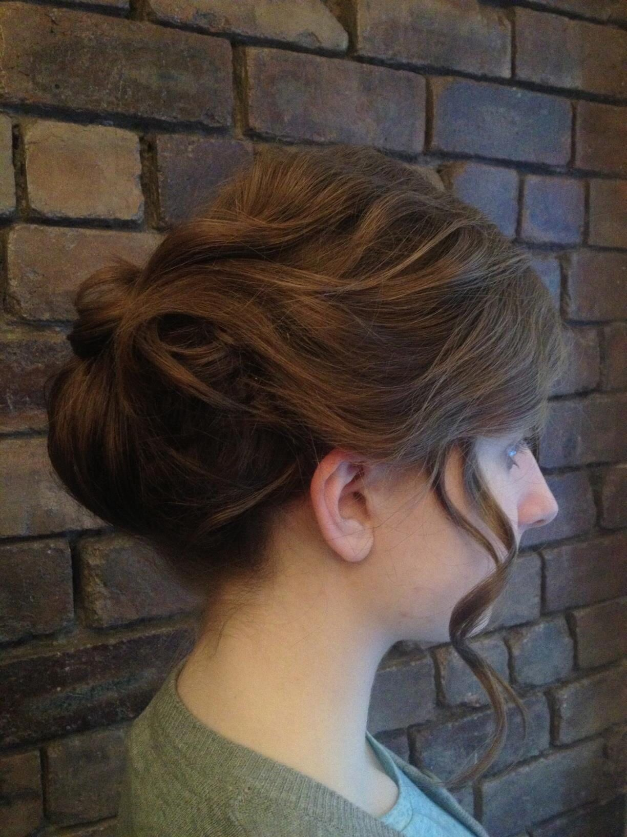 Hair and make up by Miss Barton's salon  #glasgow #westend #hairupdo #hair #colour #prom #bridal #vintage