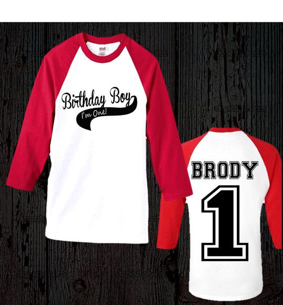 Boys Birthday Baseball Shirt Boy By FashionistaStylez