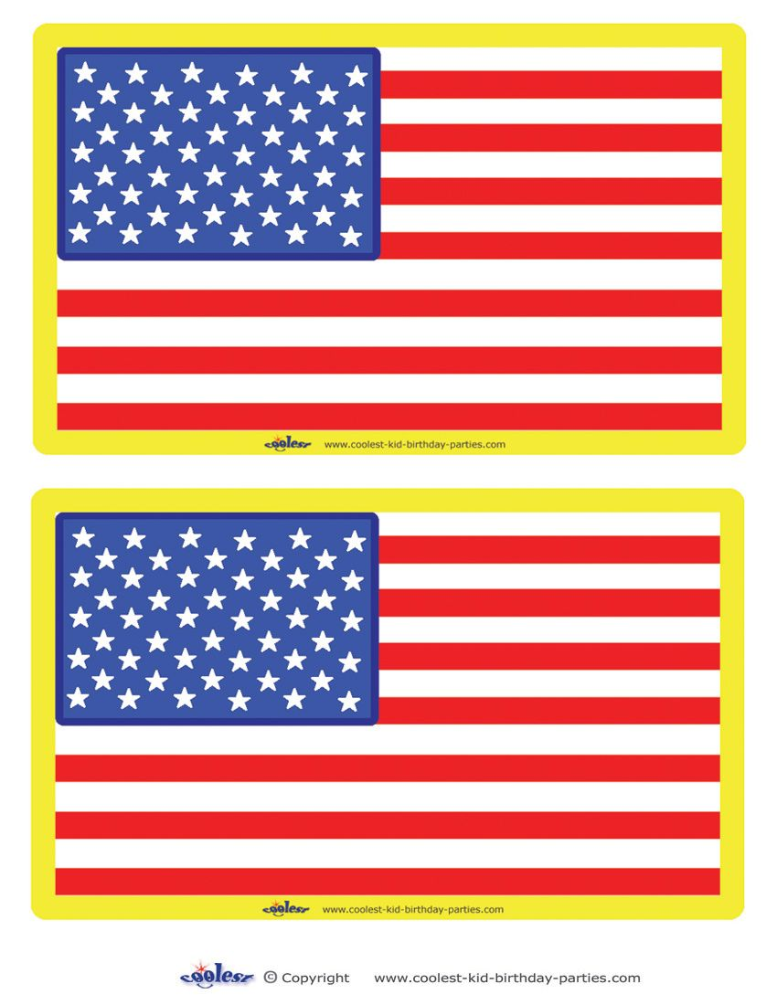 Medium Printable Usa Flag Decorations