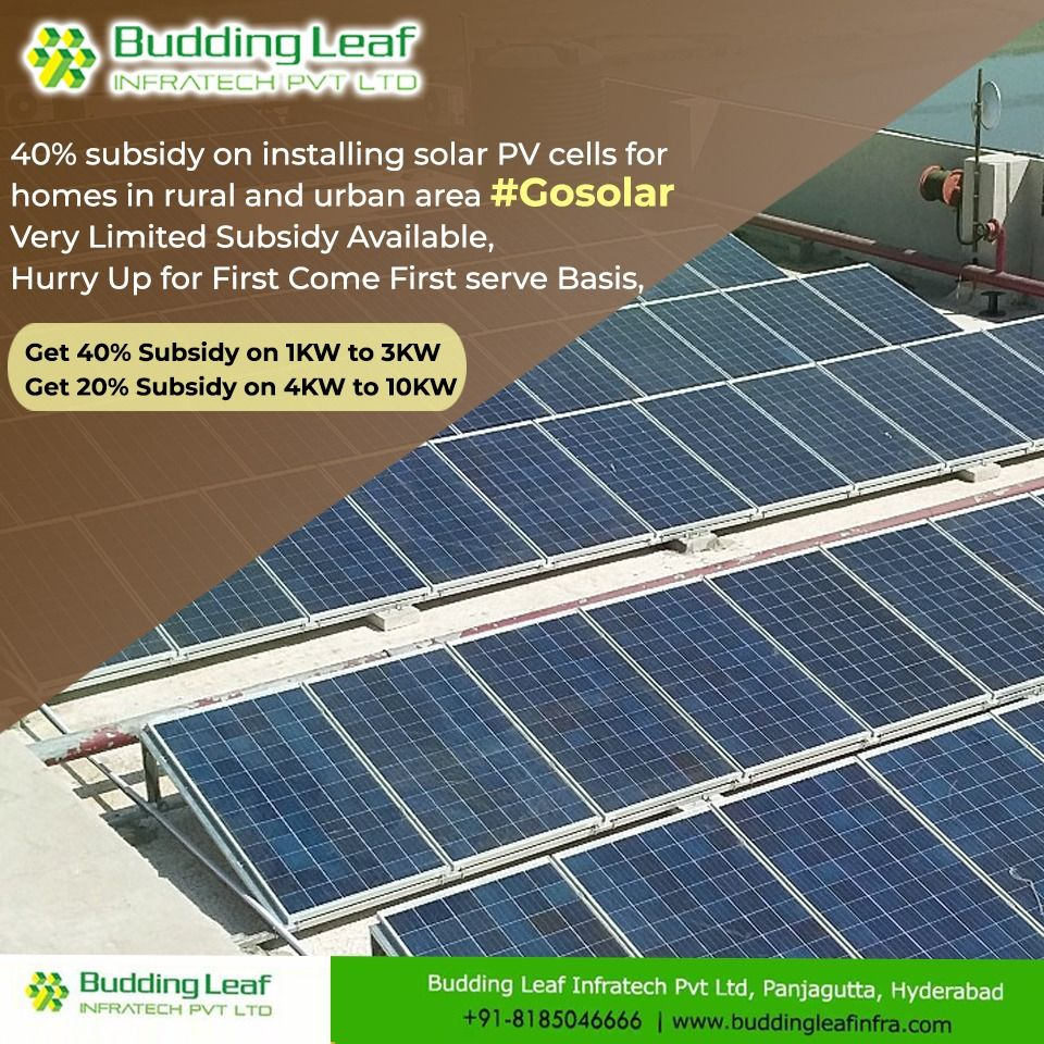 Avail Up To 40 Subsidy For Solar Pv Cells And Brighten Your Lives With Uninterrupted Power Supply Now No Ho Solar Panels Roof Solar Panels Solar Power System