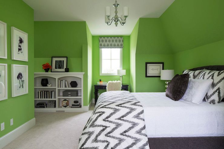 Lime Green Paint Colors Contemporary Girl S Room Sherwin Williams Lime Rickey Martha O Hara Interiors Lime Green Bedrooms Bedroom Green Green Rooms