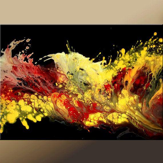 Abstract Modern Art Paintings Contemporary Original par wostudios