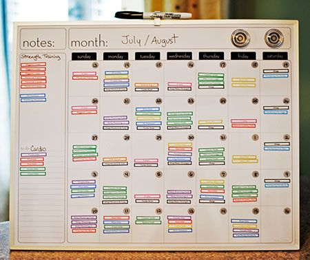 how to make a workout schedule