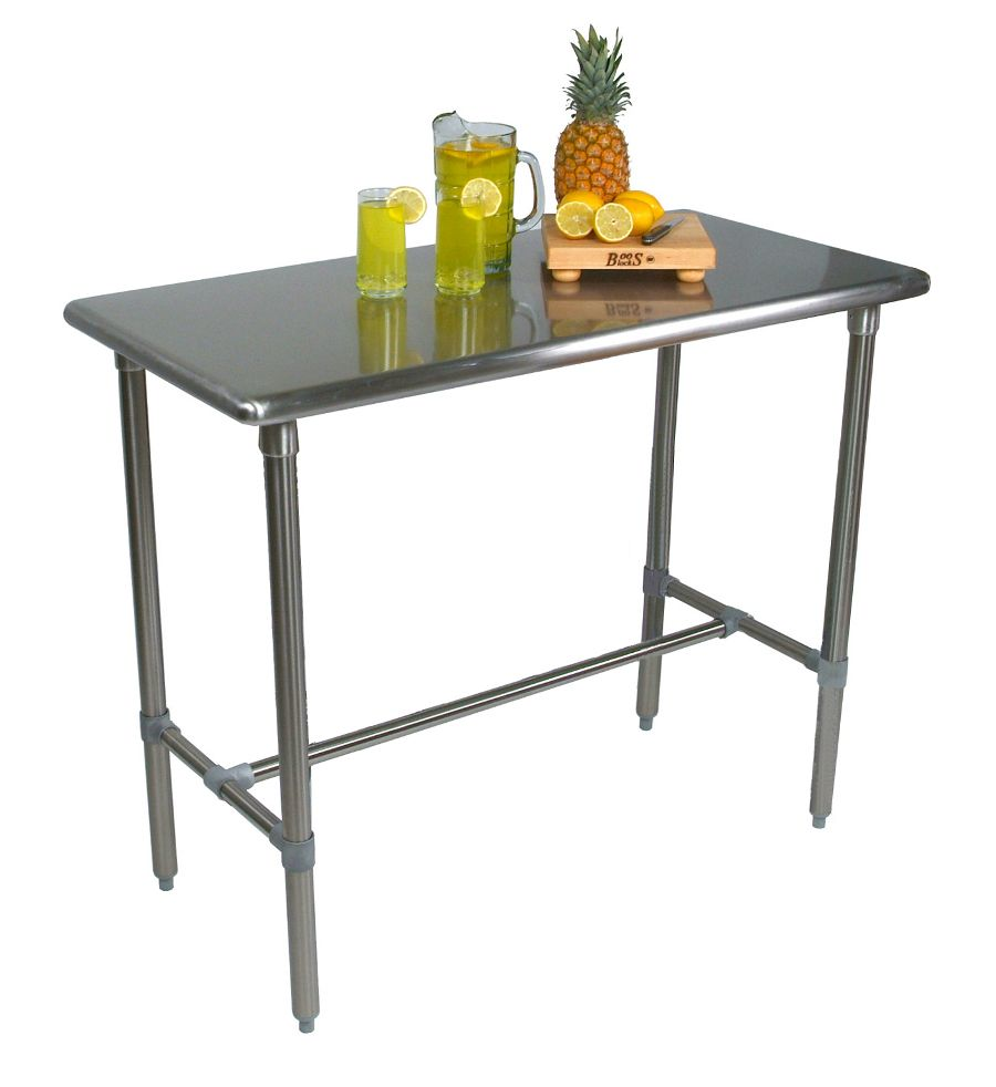 cucina classico stainless steel table tabletop and base john boos. Black Bedroom Furniture Sets. Home Design Ideas