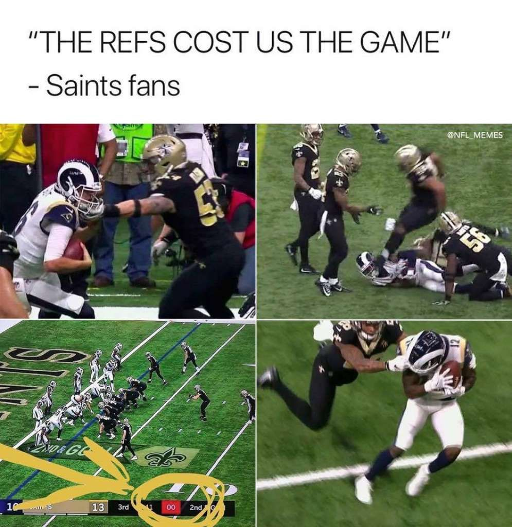 Memes Mock Gut Wrenching Playoff Losses By Saints Chiefs Nfl Memes Memes Nfl