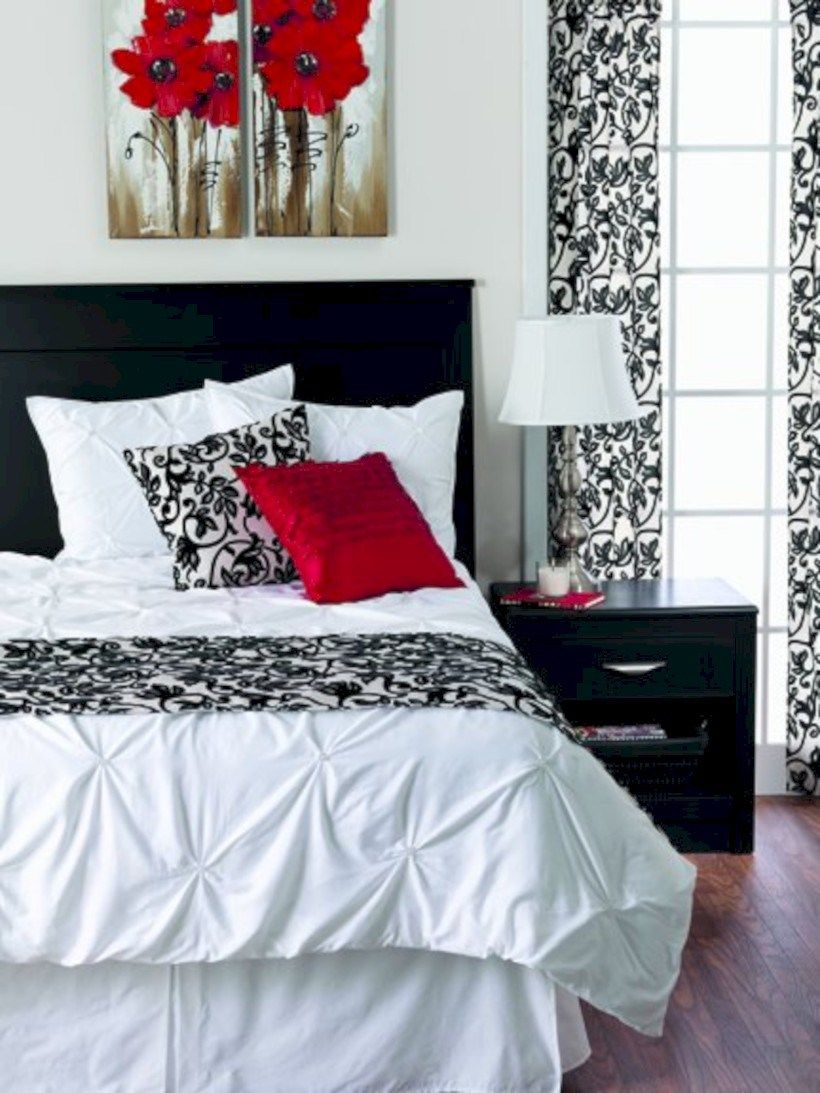 60 Black And White Bedding Sets Ideas Roundecor Bedroom Red White Bedroom Decor Red Bedroom Design,Simple Art Deco Graphic Design