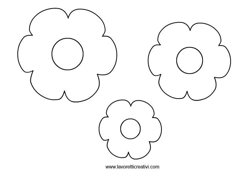 Sagome fiori 4 disegni nel 2018 pinterest - Libri da colorare di fiori ...