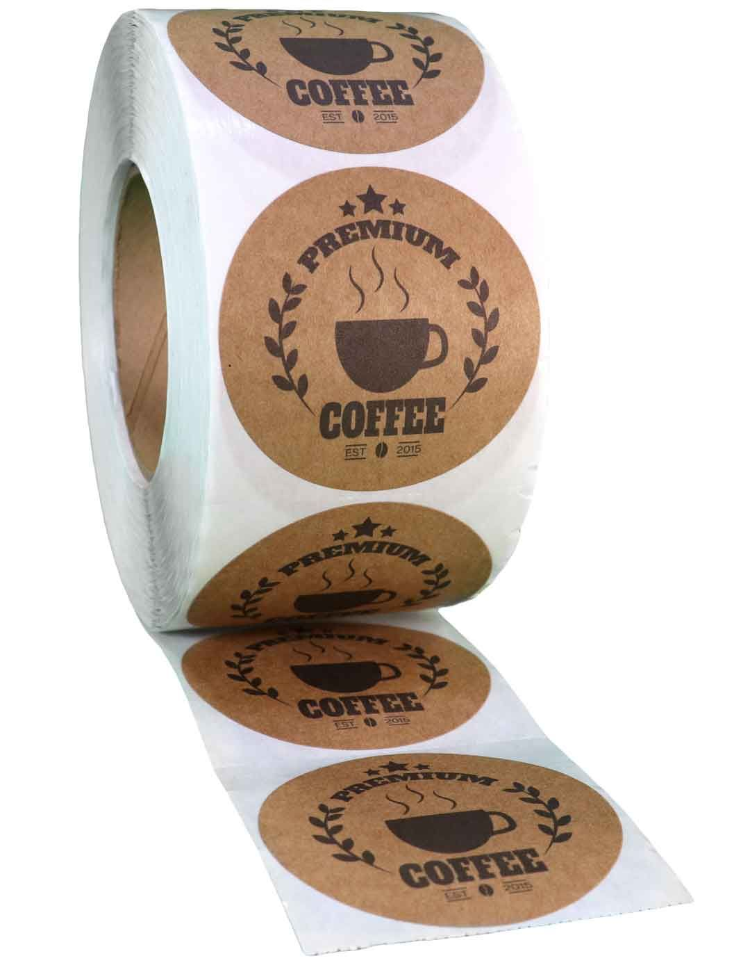 Set Of 25 Custom Printed Round Labels Select Your Size And Stock Use