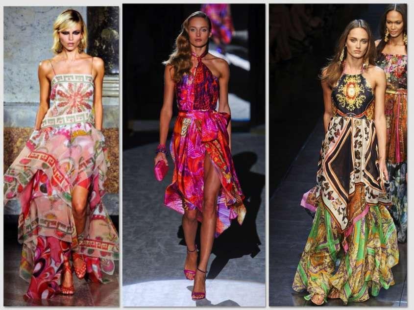 Abiti da cerimonia - Vestiti eleganti con stampe colorate  3b9de6b000f