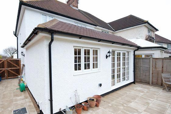 Semi Pitched Roof Concealed Flat Roof Roofingrenovation Flat Roof Extension Single Storey Extension Flat Roof