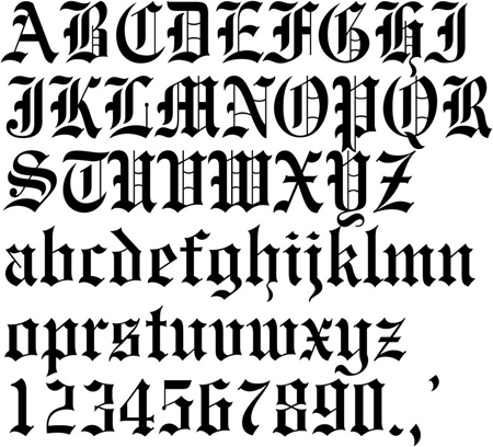old english font - Google Search | Fonts | Tattoo lettering