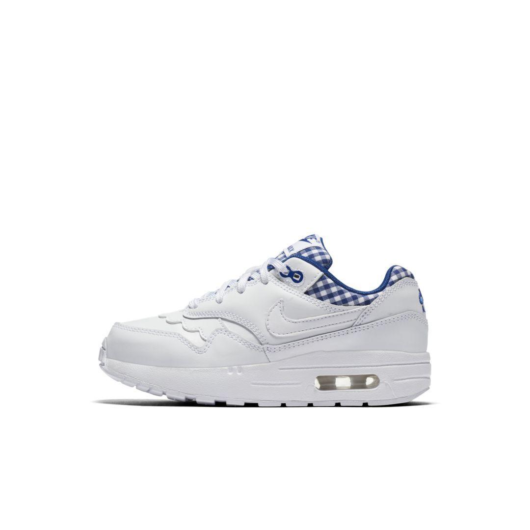 35d30606d707 Nike Air Max 1 QS Little Kids  Shoe Size 10.5C (White)