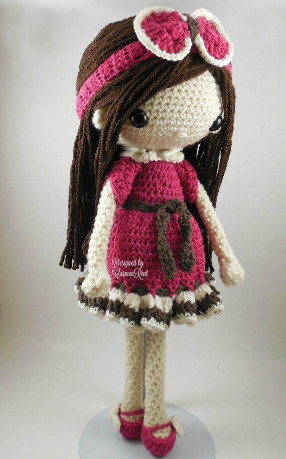 Nathalie-Amigurumi Doll Crochet Pattern PDF   00   Pinterest ...