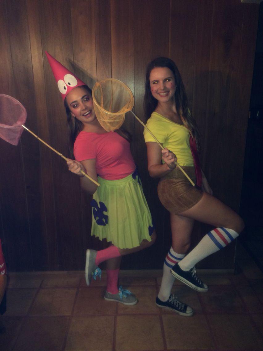 Spongebob and Patrick Halloween Costume DIY