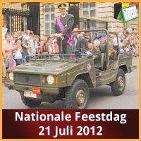 Ontdek alle evenementen in Brussel op de nationale feestdag 21 juli 2012 van Belgie.