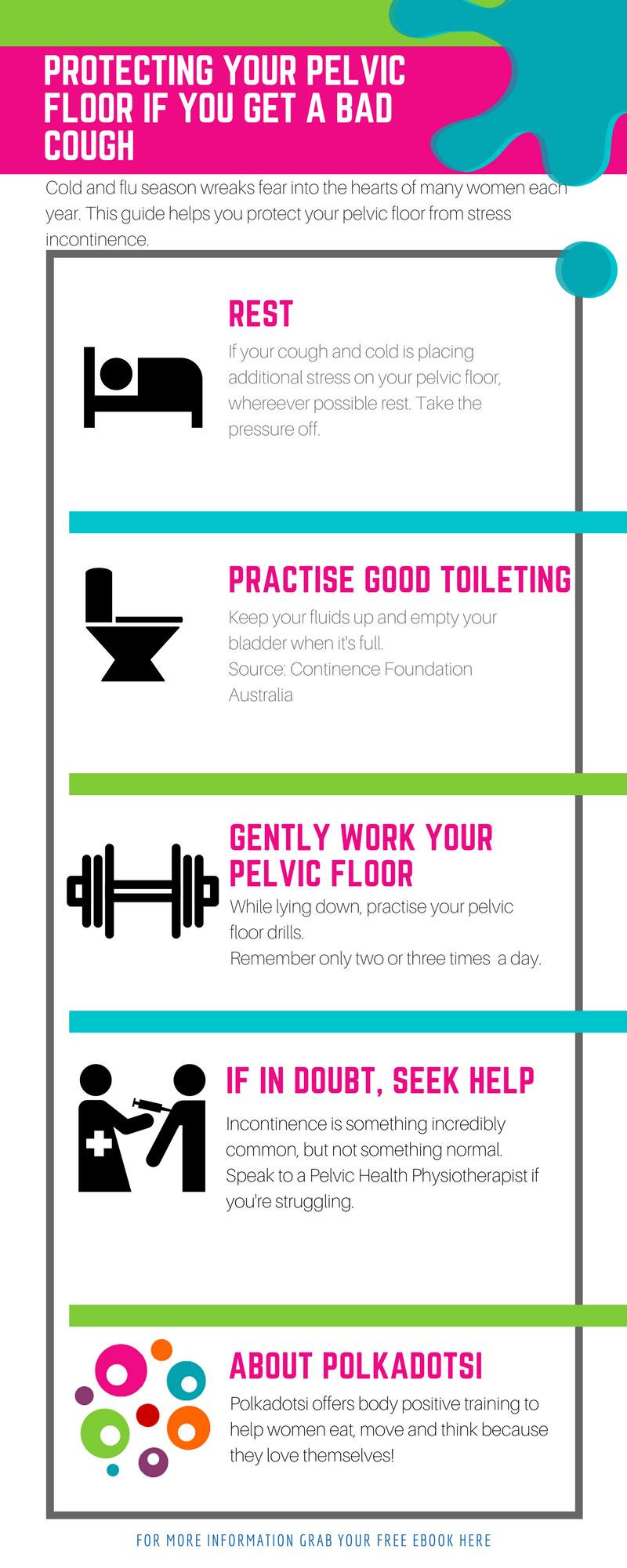 Stress incontinence is incredibly common, but not something we necessarily have to live with. Learn to protect your pelvic floor if you get a bad cold. If you pee when you cough or sneeze this guide is for you.