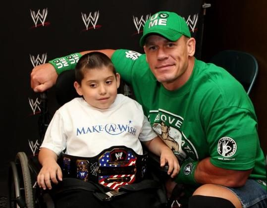 300th visit with a Make A Wish. John Cena is a badass.  He is the most requested Make A wish Celebrity.