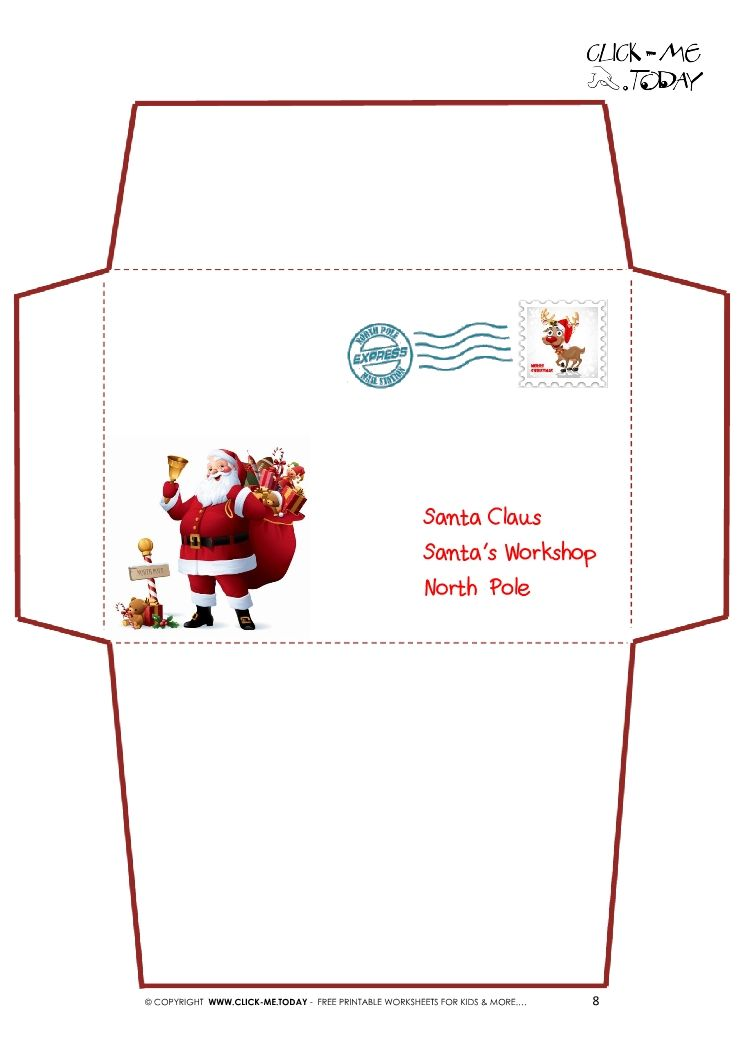 santa envelope из бумаги Pinterest Envelopes, Santa and Xmas - Santa Envelopes