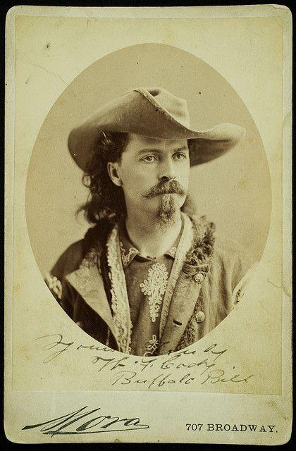 "Famed showman, solider, and entertainer, William Fredrick ""Buffalo Bill"" Cody. #Buffalo_Bill #wild_west #cowboy #old_west"