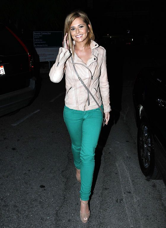 Cheryl Cole (and mint is the new black... or is it green?)