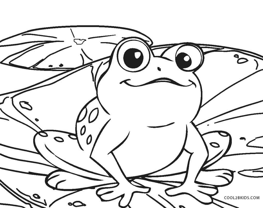 15+ Frog on a lily pad coloring page free download