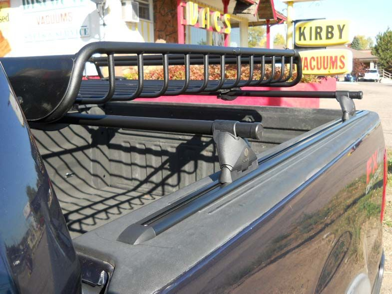 Ford F-150 bed-rail rack with cargo basket install | Truck ...