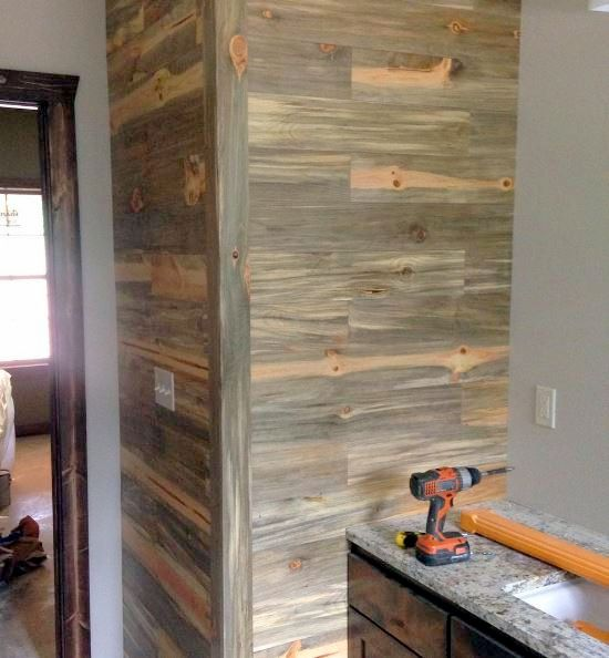 Pine Accent Wall: Nice Looking Accent Wall Using Our Beetle Kill Pine T&G