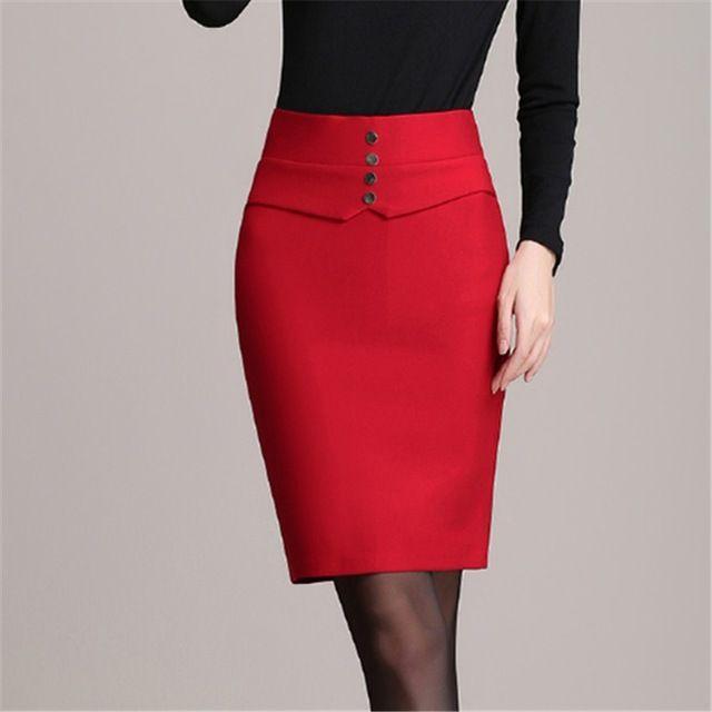 caf4b564e Modelos de faldas rectas largas | Textiles | Faldas mujer, Falda ...